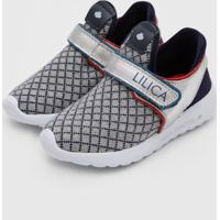 Tênis Lilica Ripilica Infantil Velcro Cinza