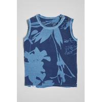 Camiseta Reserva Mini Regata Silhuetas Masculina - Masculino-Azul Petróleo