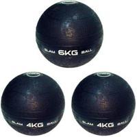 3 Bolas Medicine Slam Ball 6 Kg E 4 Kg Para Crossfit Liveup - Unissex