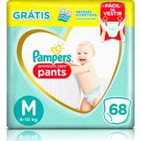 Fralda Pampers Pants Premium Care M 68 Unidades + 1 Par De Meias Infantis