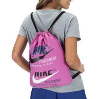 Gym Sack Nike Heritage 2.0 - 13 Litros - Rosa
