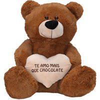 Urso Fofuxo Coração Frase Caramelo W.U - P