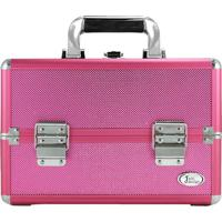 Maleta Profissional De Maquiagem- Pink & Prateada- 1Jacki Design