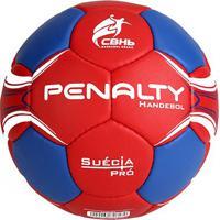 Bola Handebol Penalty Suécia H3L Pro 4 - Unissex-Vermelho+Azul