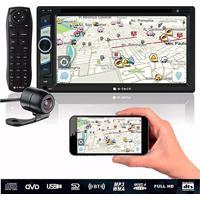 Dvd 2 Din Com Bluetooth Usb Fm Sdcard Espelhamento De Tela + Camera Ré