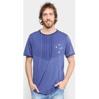 Camiseta Cruzeiro Blitz Masculina - Masculino-Cinza+Azul
