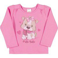 Blusas Chiclete Bebê Menina Cotton Ref:37102-13 Blusas Rosa Bebê Menina Cotton Ref:37102-13-P