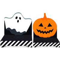 Jogo De Suportes Para Doces Halloween - Laranja & Preto