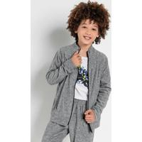 Casaco De Plush Infantil Cinza