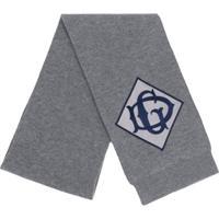 Dolce & Gabbana Echarpe Com Logo Bordado - Cinza