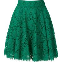 Dolce & Gabbana Saia Evasê De Renda - Verde