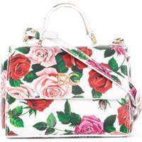Dolce & Gabbana Kids Bolsa Tote Floral - Branco