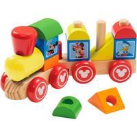 Trenzinho De Madeira - Disney - Mickey Mouse - New Toys