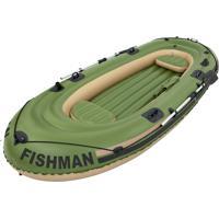 Barco Inflável Verde 2 Remos Até 380 Kg Fishman Mor