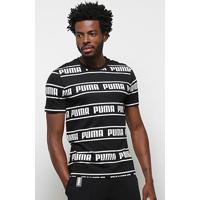 Camiseta Puma Amplified Masculina - Masculino-Preto