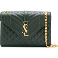 Saint Laurent Bolsa Tiracolo Envelope - Verde