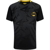 Camiseta Liga Da Justiça Dc Batman - Infantil - Preto/Amarelo