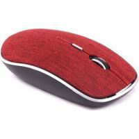 Mouse Sem Fio Twill- Vermelho & Preto- 3,3X6,5X11,5Cnewex