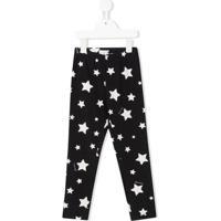 Monnalisa Legging Com Estampa De Estrelas - Azul