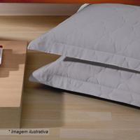 Porta Travesseiro Platine- Cinza- 70X50Cm- 300 Fbuettner