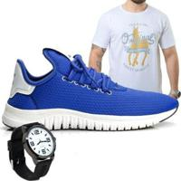 Kit Tênis Polo Joy Masculino Com Camiseta E Relógio - Masculino