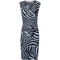 Vestido Le Lis Blanc Leticia Curto Estampado Feminino (Zebra Print, 48)