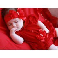 Saída De Maternidade Sônia Enxovais Menina Verão Gabi Vermelha