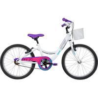 Bicicleta Caloi Ceci - Aro 20 - Freios V-Brake - Feminina - Infantil - Branco
