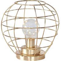 Luminária De Led Em Metal Dourado
