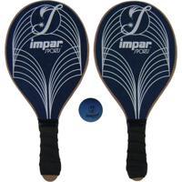 Kit Frescobol De Praia Impar Sports + Bolinha - Azul