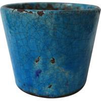 Cachepot Decorativo- Azul- 14Xø12Cmbtc Decor
