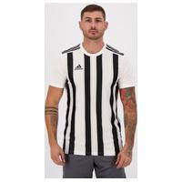 Camisa Adidas Striped 21 Branca E Preta