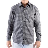 Camisa Zimpool Social Slim Fit Manga Longa Preta