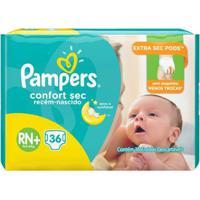 Fralda Pampers Confort Sec Rn Plus 36 Tiras - Unissex-Incolor