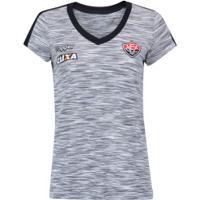 Camisa Do Vitória Concentração Comissão Técnica 2018 Topper - Feminina - Cinza/Preto