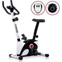 Bicicleta Ergométrica Vertical Kv 3.1I, Painel Multifunções, 8 Níveis De Esforço, Sensor Cardíaco, Assento Com Regulagem - Kikos