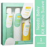 Kit Shampoo + Condicionador + Água De Colônia Needs Baby Suave 1 Unidade