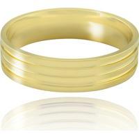 Aliança Casamento Trabalhada Em Ouro 18K Florença - Masculino - Masculino