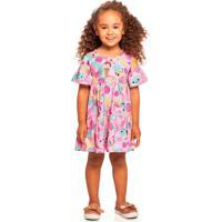 Vestido Malha Com Estampa De Docinhos Rosa