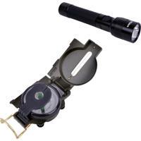 Lanterna Tática Hunter 160 Lumens + Bússola Army Com Visada Dobrável Echolife