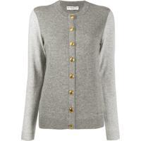Givenchy Cardigan 4G Bicolor Com Abotoamento - Cinza