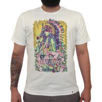 Girl Guns And Roses - Camiseta Clássica Masculina