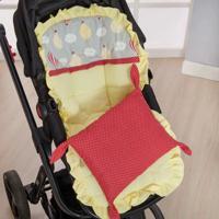 Capa De Carrinho De Bebê 2 Peças Balão Amarelo