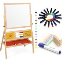 Kit Lousa Infantil Educativa + Giz De Cera De Abelha Apiscor - Tricae