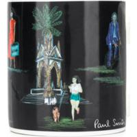 Paul Smith Caneca De Porcelana Com Estampa - Preto