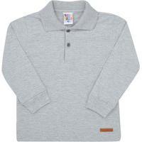 Camisa Polo Mescla Cinza - Primeiros Passos - Menino Meia Malha 45359-567 Polo Cinza - Primeiros Passos Menino Meia Malha Ref:45359-567-1