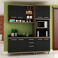 Cozinha Compacta New Vitoria 8 Pt 3 Gv Avelã Com Onix