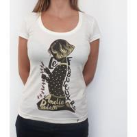 3136d567c El Cabriton  Le Fabuleux Destin D  Amelie Poulain - Camiseta Clássica  Feminina