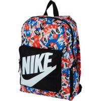Mochila Infantil Nike Ya Classic Aop - 16 Litros - Preto/Branco