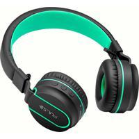 Fone Fun Bluetooth Preto/Verde Ph215 - Pulse